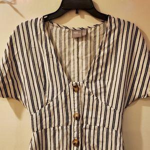EUC ASOS black and white striped dress sz 4
